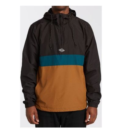 Wind Swell Anorak Jacket - RUSTIC BROWN / X-Large