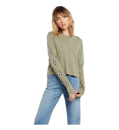 THE VOLCOM STONES LS - GREEN / X-Small