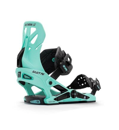 NOW Select Pro Snowboard Bindings Teal - S