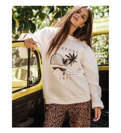 Bask In The Sun Pullover - SALT CRYSTAL / S/8