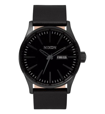 Sentry Leather ,  42  mm - All Black / One Size