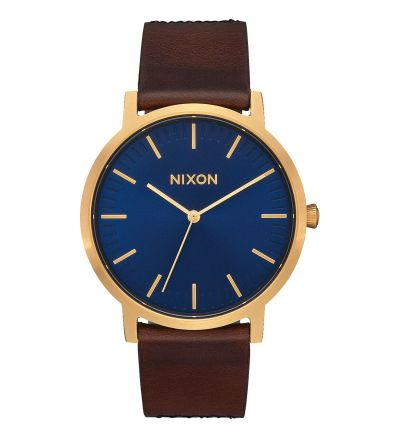 Porter Leather ,  40  mm - Navy / Brown / Black Gator / One Size