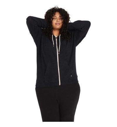 LIL ZIP FLEECE - BLACK / 12W