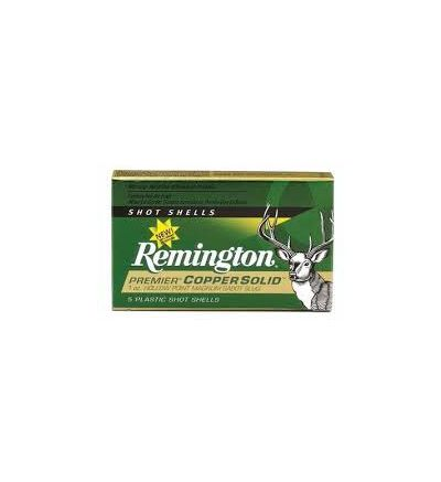 Remington 20G Premier Copper Solid Sabot Slug Lead Free 12g 2.75