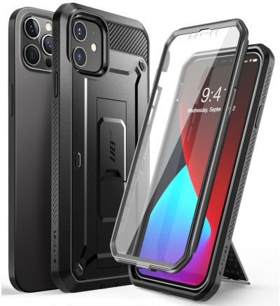 SUPCASE UBPro Phone Case for iPhone 12 and 12 PRO 6.1 Inch with Screen Protector Kickstand and Rotating Belt Clip
