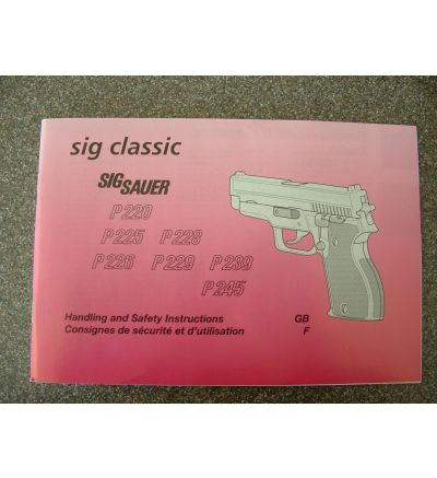 Sig P220-245 53 page manual w instructions, parts listing