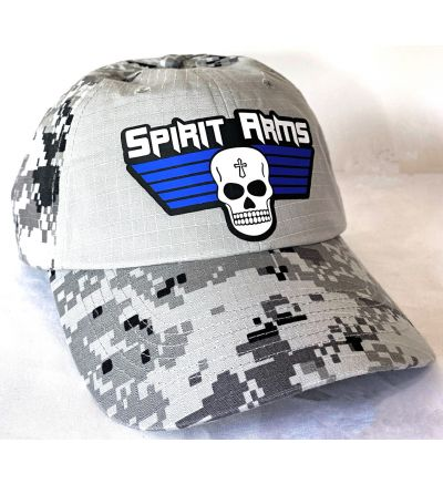 Solid Front Gray Camo Hat