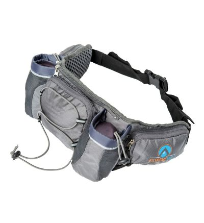 ExtremeMist Detachable Dual Holster Hydration Waist-Pack  (Adjustable Small-Large) (Gray)