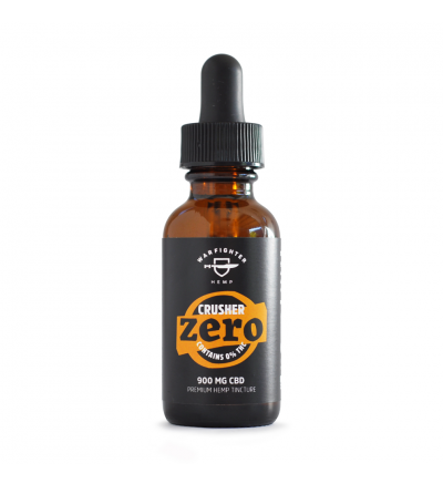 WARFIGHTER ZERO - CRUSHER 900 MG CBD TINCTURE WITH 0% THC, NATURAL FLAVOR