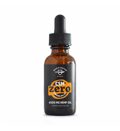WARFIGHTER ZERO - CSM 4500 MG CBD TINCTURE WITH 0% THC, NATURAL FLAVORING