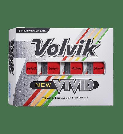 Volvik New Vivid Golf Balls-Red