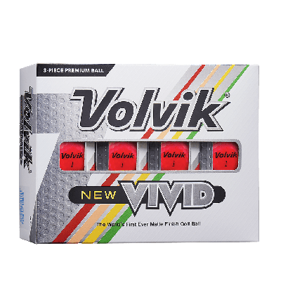 Volvik New Vivid Golf Balls-Pink