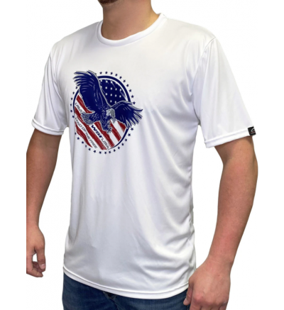 WSI Sports Land of the Free Microtech™ Loose Fit Short Sleeve Shirt