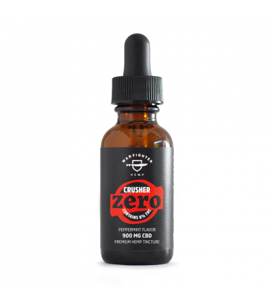WARFIGHTER ZERO - CRUSHER 900 MG CBD TINCTURE WITH 0% THC,PEPPERMINT FLAVOR
