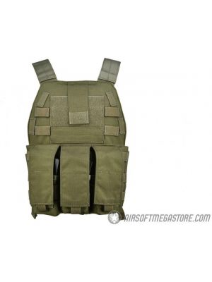 Flyye Industries MOLLE Streamlined Plate Carrier - RANGER GREEN