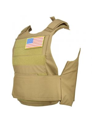 Lancer Tactical Airsoft Adjustable American Body Armor [Nylon] - TAN