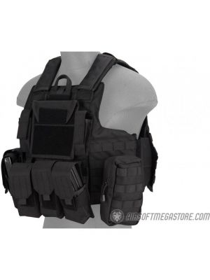 Lancer Tactical 1000D Nylon Tactical Strike Assault Plate Carrier - BLACK