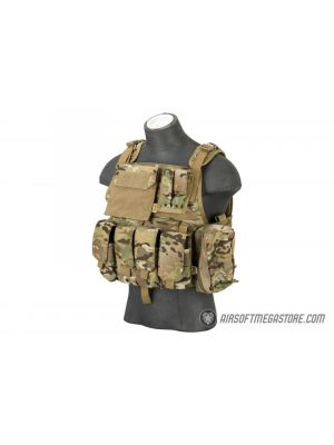 Flyye Industries 1000D Cordura MOLLE Plate Carrier w/ Pouches [MED] - MULTICAM