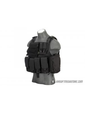 Flyye Industries 1000D Cordura MOLLE Plate Carrier w/ Pouches [LARGE] - BLACK